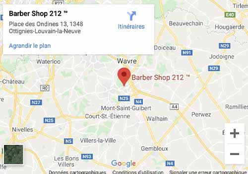 Barber shop 212 Louvain la Neuve Salon de coiffure pour homme barbier